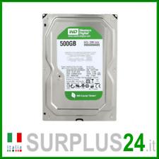 """Hard Disk 500GB SATA 3.5"""" WESTERN DIGITAL GREEN WD5000AADS 7200 rpm x PC Desktop"""