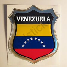 Sticker Venezuela Emblem 3D Resin Domed Gel Venezuela Flag Vinyl Decal Car