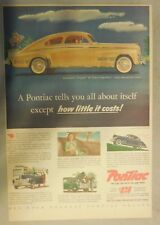 Pontiac Car Ad: A Pontiac Tells You All About Itself 1941 ! Size: 11 x 15 inches
