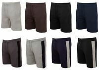 Mens Summer Beach Contrast Panel Colour Block Casual Zip Pocket Fleece Shorts