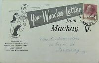 ".1950'S MACKAY , ""YOUR WHACKO LETTER"" POSTCARD BOOK QUEENSLAND"