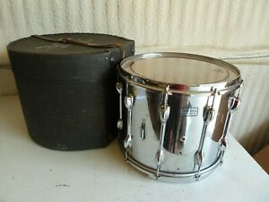 Vintage Slingerland TDR 15X12 Chrome Wood Marching Snare Drum w/Case Incomplete