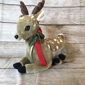Plush Vintage~Animated ~Reindeer by Santas Best No Cord (Not Tested) Christmas