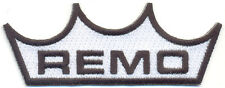 Remo Embroidered Iron on Patch, Drumset badges, percussionists, musicians