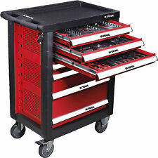 Trolley de tools professional 7 drawers with 15 modules y 138 parts