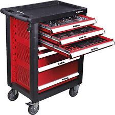 Chariot de outils professionnel 7 tiroirs avec 15 modules de y 138 pièces