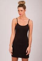 WOMEN'S LAYERING SLIP DRESS / CAMISOLE / PETTICOAT. BLACK, WHITE, TAN. SIZE 8-16
