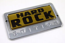 Hard Rock Gold Edition Chrome Emblem with domed decal Car Bike motorcycle Badge
