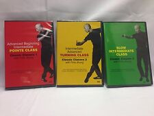 Classic Classes 1 Pointe, 2 Turning & 3 Slow Intermediate w/ Finis Jhung DVD set
