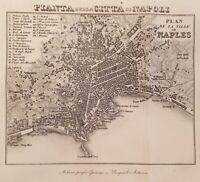 MAPPE ARTARIA EPIMACO PIANTA DELLA CITTA DI NAPOLI NAPLES TOSCANA 1829