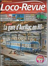 LOCO REVUE N°814 LA GARE D'AURILLAC EN HO / TOMBEREAUX / BB 8603 FRET JOUEF