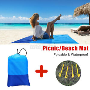 Waterproof Outdoor Camping Blanket Picnic Mat Foldable Beach Sand Proof Rug