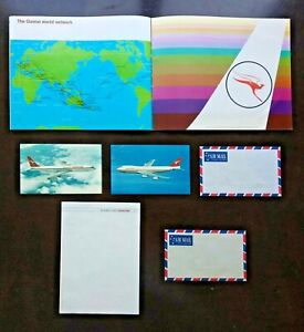 Mint Condition: QUANTAS Airlines Flight Guide, 1974, with Postcards and more