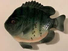 Vintage 60s Lefton Bluegill Fish Ceramic Wall Hanging Plate Dish Perch Bream