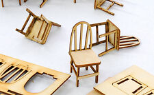 F/G scale BANTA MODEL WORKS #918 Bent Back Chairs for Cafe or other 4 per kit