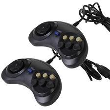 2 X 6 Button Game Controller for SEGA Genesis Black