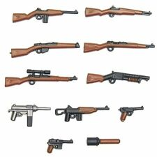 12 Custom Lot Military World War II Weapons Guns Rifles Lego Minifigure Army
