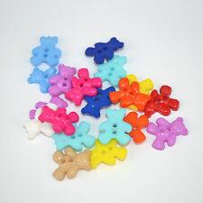 20 résine petit ours 2 trous boutons 20x16mm (BOX94)