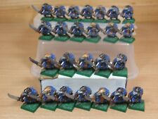 25 PLASTIC WARHAMMER QUEST SKAVEN NO SHIELDS PAINTED (333)