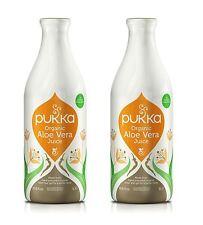 Pukka Herbs Organic Aloe Vera Juice - 1 Litre (Pack of 2)