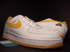 2002 Nike Air Force 1 LA LAKERS WHITE CANYON GOLD YELLOW PURPLE 624040-173 DS 13