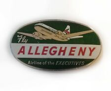 Etiquette Bagage Aviation Allegheny Airlines Luggage Labels 1950