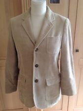 FANTASTIC POLO RALPH LAUREN BEIGE CORDROUY BLAZER UK SIZE 12 WORN GOOD CONDITION