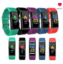 Sports Waterproof Fitness Activity Tracker Smart Watch Fitbit Heart Rate Monitor