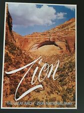 ORIGINAL 1960's  ZION NATIONAL PARK TRAVEL POSTER  UTAH    VINTAGE 60s USA