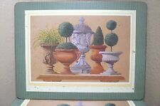 Pimpernel 4 Luncheon TOPIARY Green Cork Back Place Mats Placemats, Box England