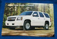 2008 Chevy Tahoe HyBrid Dealer Showroom Photo Original GM Heavy Paper NOS NEW