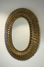 Espejo vintage sol metal 1960s sunburst mirror metal antique sun