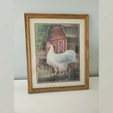 Marilyn Rea Rooster And Barn Farmhouse Picture