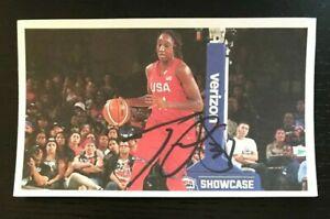 TINA CHARLES WNBA USA National Team Autographed Signed Custom 3x5 Index Card