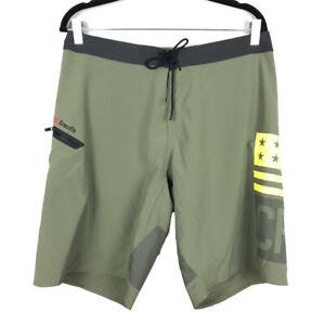 "Reebok Crossfit Mens Size 33 Green 10"" inseam Athletic Gym Shorts"
