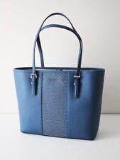 MICHAEL KORS TASCHE Shopper MICRO STUD SM CARRYALL TOTE blue Leder