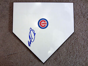 WADE DAVIS Chicago Cubs SIGNED Autographed Home Plate Base w/COA World Series
