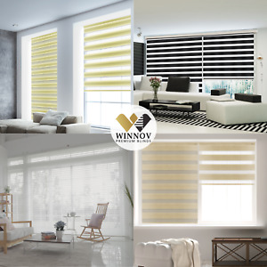 WINNOV Window Blinds Double Roller Korean Combi Shade Dual Layer Made to Order
