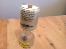 """Upcycled 70cl Vodka bottle soy candle fragranced with """"Citronella"""""""