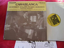 Casablanca  Bogart, Bergmann        Radiola LP      MR - 1099