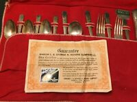 Vintage 26pc. Jasmine Flatware Set for 6 by Simeon L. & George H. Rogers Company