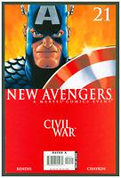 New Avengers #21 VF/NM Marvel Comics 2006 Civil War Captain America Cover