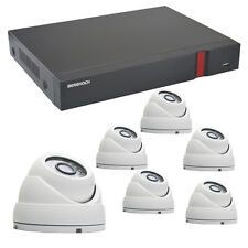 Videoüberwachung Set HD 1080p POE 6x Dome Überwachungskamera + 2000 GB Festpl.