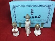 New Lladro Mini Angelitos 1604 Set 3 Angels Nativity Christmas Ornament Nos 1988