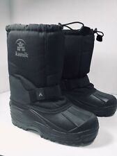 Mens Kamik Cold Weather boots Black size 6 Waterproof Snowboots Green Bay 4 Cold