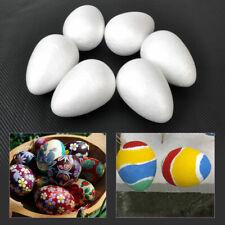 6pcs 12cm Styrofoam Eggs Polystyrene Ball Easter Christmas Decor Egg Craft DIY