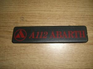 Emblem Badge Autobianchi A 112 Abarth ca. 15 x 3 cm, Plastik