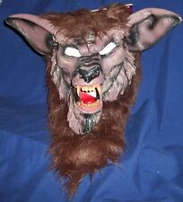 ADULT BROWN WEREWOLF MONSTER DELUXE MASK COSTUME FW8546WB