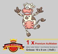 Lustiger Aufkleber tanzende Kuh cow Spaß Fun Gag Cartoon Kinder Auto Sticker