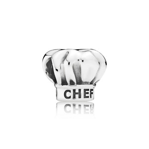 Pandora Genuine ALE 925 Silver I Love Cooking Chef Hat Charm 791500 retired B5